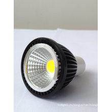 Dimmable AC100-240V 5W COB светодиодная лампа GU10