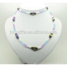 Mode Hämatit Glas Perlen Wrap