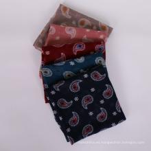 Nueva llegada bufanda suave moda viscosa impresión Paisley bufanda mujeres hijab