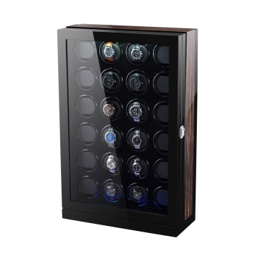 Finition noire brillante PU Rotations Watch Winder