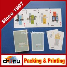 Papier Material und Werbung Poker Typ Spielkarte (430028)
