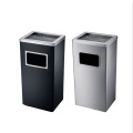 Stainless Steel Hotel / Office Use Dustbin with Ashtray (YW0036)