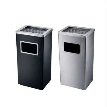 Stainless Steel Hotel/Office Use Dustbin with Ashtray (YW0036)