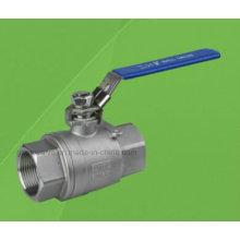 Válvula de bola roscada de acero inoxidable 2PC 1000wog (Q11F)