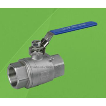 2PC 1000wog Stainless Steel Threaded Ball Valve (Q11F)