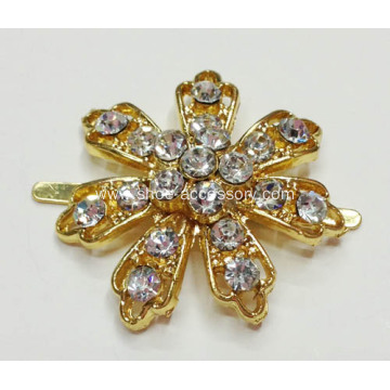 Women's Shoe Clips, Flower Shapes Rhinestone Shoe Clips