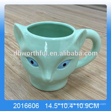 Green dolomite fox mug ,ceramic fox cup wholesale