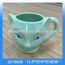 Verde dolomita fox caneca, copo de raposa de cerâmica por atacado