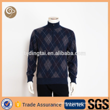 Stand collar knitting wool sweater men
