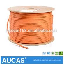Orange cat7 SFTP Netzwerkkabel 10 Gigabit mit cat7 rj45 Stecker und Katze 7 rj45 Stecker