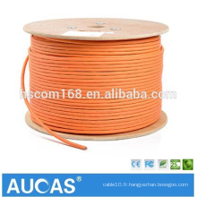 Orange cat7 SFTP Network Cable 10 Gigabit avec la prise cat7 rj45 et le connecteur rj45 du chat 7