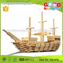 300шт Учебный центр Классические игрушки Деревянные строительные кирпичи