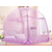 Kreisförmig gefaltetes Baldachin-Moskitonetz mit Spitze Moskitonetz für Königinbett