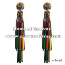 Large Green Plastic Beads Fashion Earrings