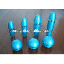 Bola forma cosmética botella de loción de acrílico con bomba