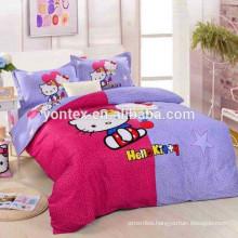 100% cotton cartoon digital printed bedsheet for Children