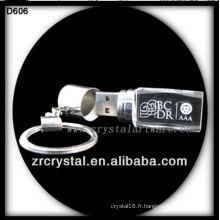 Beau disque flash USB en cristal BLKD606