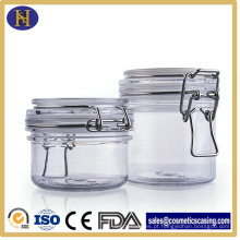Máscara de cosméticos creme frascos, lacrado embalagem pote para esfoliação corporal