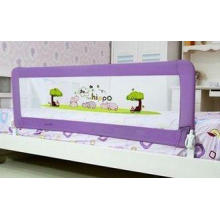 Purple Safety Bed Rails For Children , Woven Net Kids Bed R