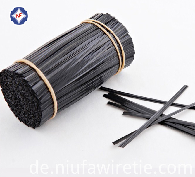 black single wire twist tie.