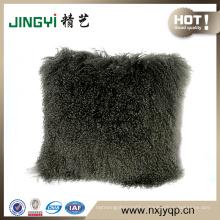 2018 Wholesale Extremely Fancy Tibetan Mongolian Lamb Wool Decorative Throw Pillow