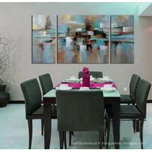 Peinture moderne décorative encadrée en toile