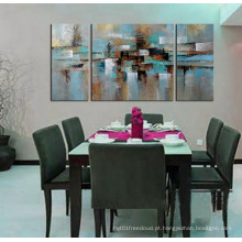 Lona pintada quadro moderno decorativo