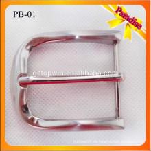 PB01 Custom Beliebte Metall-Dornschließe für Gürtel 1,4 Zoll Metall Wölbung Nickel Farbe