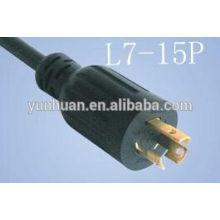 NEMA L7 - 15P Twist Lock moldado o cabo de alimentação
