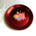Chinese style antique 18inch stainless steel fruit candy plate for wedding