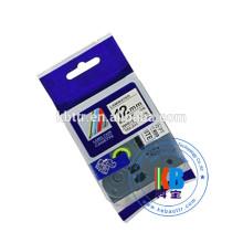 Cassete de fita de etiqueta de impressora laminado compatível Tz 231 Fita de rótulo 12mm irmão tze