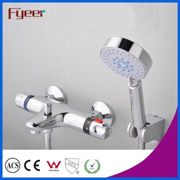 Fyeer Hot Sale sistema solar misturador de duche termostático com desviador