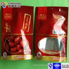 Getrocknete Termine Lebensmittelqualität Plastikverpackungsbeutel