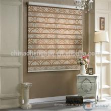 Home Hotelbüro dekorative Jacquard-Stil Zebra Jalousien