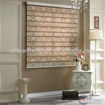 Home hotel office decorative jacquard style zebra blinds