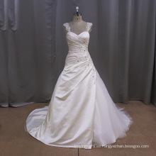 Vestido de novia de satén de encaje vintage