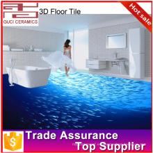 Piso 3d para digital 3d inkject imagen baño azulejo de cerámica 3d baldosas
