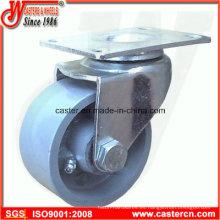 Rueda giratoria de acero de 3 pulgadas con rueda gris de hierro fundido