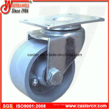 3 Inch Steel Swivel Caster with Gray Cast Iron Wheel