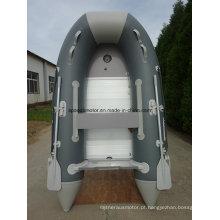 Material do casco do PVC do ce que dobra o barco inflável inflável