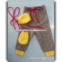 Design de calças de caxemira macio 100% de alta qualidade casual para bebê