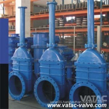 Cast Iron Extended Stem Gate Valve with Groove, Push on, RF or FF Ends