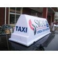 Led light display abs plastic taxi top advertising signs
