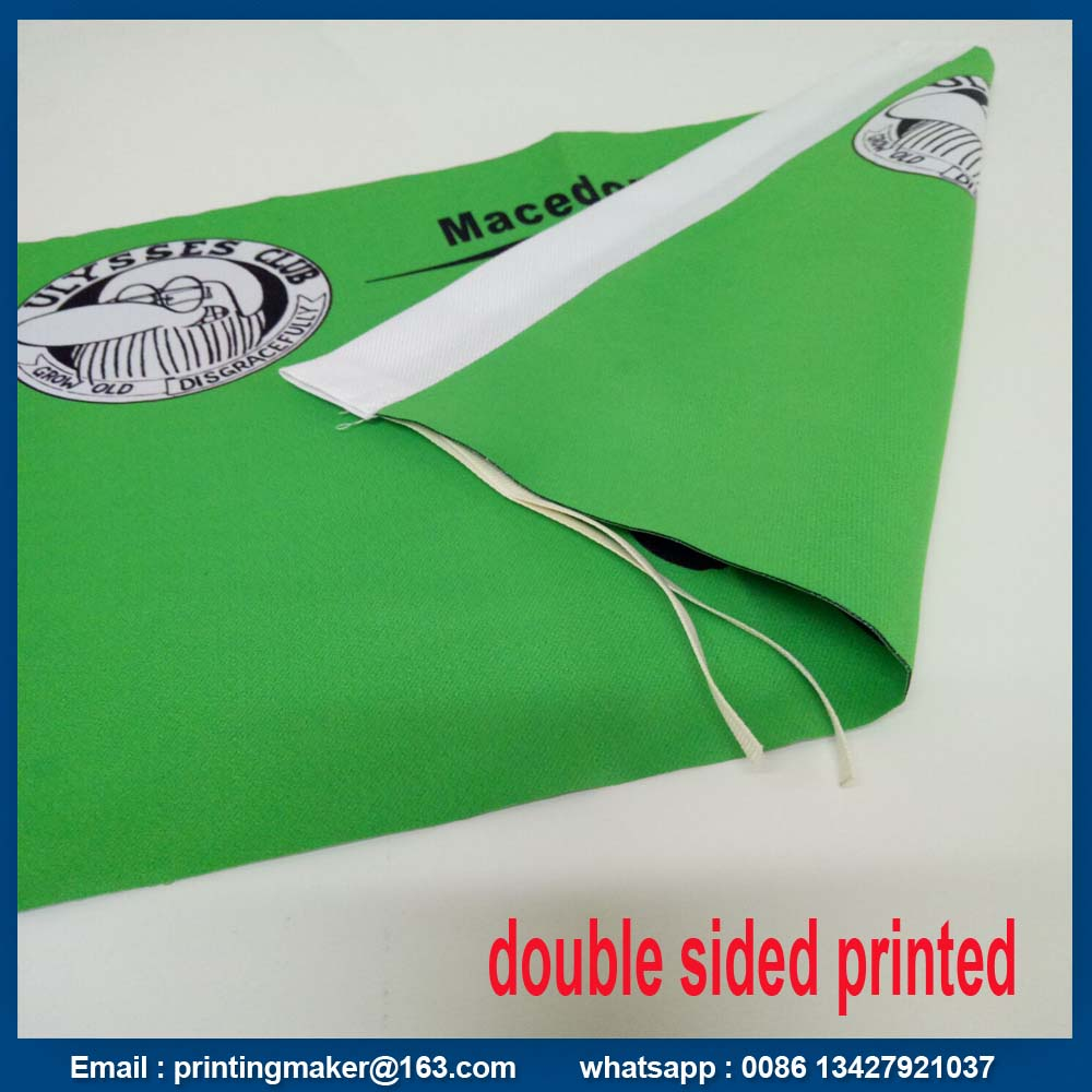 250G Polyester Fabric Flags with Double Sided Printed
