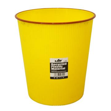 Gelber Kunststoff Offene Abfalleimer für Haus (B06-931-2)