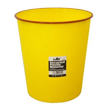 Yellow Plastic Open Top Waste Bin for Home (B06-931-2)