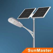 80W Bridgelux-Chip-Sonnenkollektor-Straßenbeleuchtung 80W mit 8m hohem Pfosten