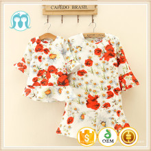 woman dress half sleeve floral fashionable autumn designs latest children models clothes kids apparel floral child african dress