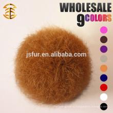 2015 Новый дизайн Pom Pom Fur Balls Подлинная 5-10 см Реальный кролик Красочный меховой шарик Pom