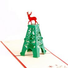 FQ marque heureuse décoration à la main personnalisée 3d joyeux Noël carte